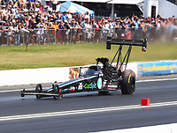 Jun 11, 2017; Englishtown , NJ, USA; NHRA top fuel driver Scott Palmer during the Summernationals at Old Bridge Township Raceway Park. Mandatory Credit: Mark J. Rebilas-USA TODAY Sports