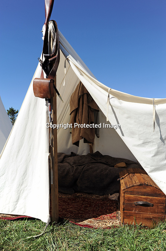 Civil War Reenactment Confederate Camp Tent