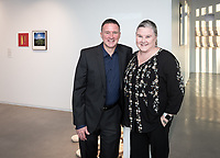 Megan Wanlass '94 and her brother Ralph Wanlass '91<br /> Special guests, Trustees, alumni, faculty and staff gather for the dedication reception for Occidental College's newly opened Oxy Arts building on York Boulevard on Oct. 3, 2019. Oxy Arts is Oxy's community art center located in Highland Park, one block south of campus.<br /> (Photo by Marc Campos, Occidental College Photographer)