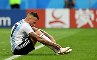 KAZAN - RUSIA, 30-06-2018: Nicolas OTAMENDI jugador de Argentina luce decepcionado después del partido de octavos de final entre Francia y Argentina por la Copa Mundial de la FIFA Rusia 2018 jugado en el estadio Kazan Arena en Kazán, Rusia. / Nicolas OTAMENDI player of Argentina looks disappointed after the match between France and Argentina of the round of 16 for the FIFA World Cup Russia 2018 played at Kazan Arena stadium in Kazan, Russia. Photo: VizzorImage / Julian Medina / Cont