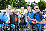 Adam Kelly, Tim Ferguson, ian Burke, Dave Connell Kenmare and David Bateman Dingle at the finish of the Ring of Kerry cycle in Killarney on Saturday