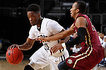 SIOUX FALLS, SD - MARCH 8: Mason Archie II #2 of IUPUI defends against a driving Aaron Young #0 of Oral Roberts in the first half of their second round Summit League Championship Tournament game Sunday evening at the Denny Sanford Premier Center in Sioux Falls, SD.(Photo by Dick Carlson/Inertia)
