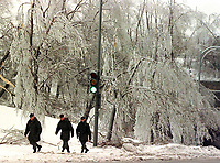 FILE - The ice storm in and around Montreal, January 1998.<br /> <br /> <br /> Photo : Robert Gallbraith<br />  - Agence Quebec Presse