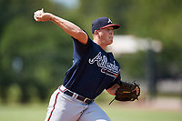 Atlanta Braves pitcher Devan Watts (36) delivers a pitch during an Instructional League game against the Philadelphia Phillies on October 9, 2017 at the Carpenter Complex in Clearwater, Florida.  (Mike Janes/Four Seam Images)