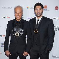 NEW YORK, NY - NOVEMBER 19: Riaz Mehta and Sam Gollestani at the 40th International Emmy Awards in New York. November 19, 2012. © Diego Corredor/MediaPunch Inc. /NortePhoto
