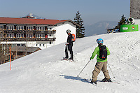 Skipiste am Ofterschwanger Horn im Allgäu, Bayern, Deutschland<br /> piste at  Ofterschwanger Horn, Allgäu, Bavaria, Germany