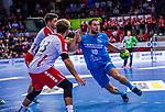 HAIDER, Maximilian (#14 DIE EULEN LUDWIGSHAFEN) \DURAK, Pascal (#23 DIE EULEN LUDWIGSHAFEN) \KRAUS, Michael (#10 TVB 1898 Stuttgart) \ beim Spiel in der Handball Bundesliga, TVB 1898 Stuttgart - Die Eulen Ludwigshafen.<br /> <br /> Foto &copy; PIX-Sportfotos *** Foto ist honorarpflichtig! *** Auf Anfrage in hoeherer Qualitaet/Aufloesung. Belegexemplar erbeten. Veroeffentlichung ausschliesslich fuer journalistisch-publizistische Zwecke. For editorial use only.