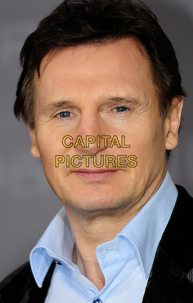 "LIAM NEESON.Photocall for ""96 Hours"", Regent Hotel in Berlin, Germany ..January 8th, 2009.headshot portrait blue collar.CAP/RD.©Richard Dean/Capital Pictures."