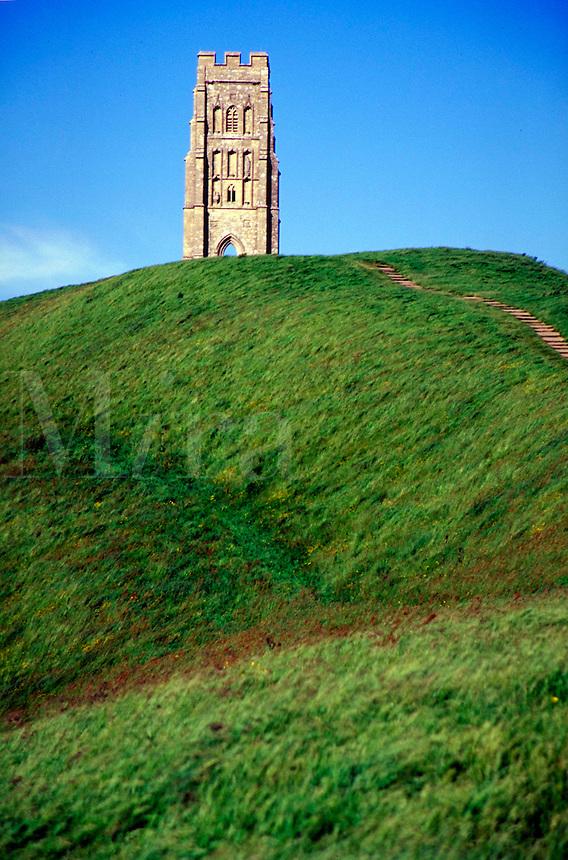 Glastonbury Tor, ancient civilizations, landmarks, anthropology, landscape, religions, Christianity, architecture, mythology, ruins, Holy Isle of the Monks. England.