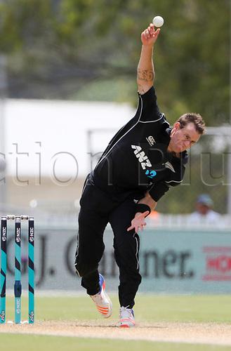 20th December, 2017, Whangarei, New Zealand;  New Zealand's Doug Brcewell. New Zealand Black Caps versus West Indies, first One Day International cricket, Cobham Oval, Whangarei, New Zealand. Wednesday, 20 December, 2017.