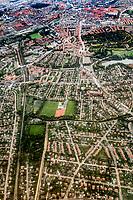 Udsigten fra et KLM fly mellem Amsterdam og København. <br /> Foto: Jens Panduro