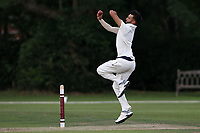 Eshun Kalley in bowling action for Wanstead during Brentwood CC vs Wanstead and Snaresbrook CC, Essex Cricket League Cricket at The Old County Ground on 12th September 2020