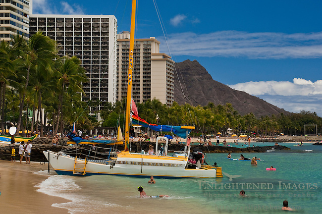 Kuhio Beach Park, Waikiki Beach, Honolulu, Oahu, Hawaii