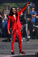 Pictured: Jared Leto of Thirty Second To Mars. Sunday 27 May 2018<br /> Re: BBC Radio 1 Biggest Weekend at Singleton Park in Swansea, Wales, UK.