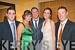 Social Looking good for the Kingdom boys/Dynamos soccer club social held in the Brandon hotel Tralee last Friday night were L-R Damian Diggins,Aisling Conway,Ivan Maher,Olga Grudzinska and David O'Leary.