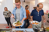 The People's Kitchen create their first West London meal at the Maida Hill Place cookery incubator social enterprise, North Paddington.