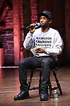 """Donald Webber Jr. from the 'Hamilton' cast during a Q & A before The Rockefeller Foundation and The Gilder Lehrman Institute of American History sponsored High School student #EduHam matinee performance of """"Hamilton"""" at the Richard Rodgers Theatre on May 24, 2017 in New York City."""