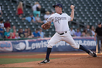 NWA Democrat-Gazette/J.T. WAMPLER Jonathan Dziedzic sends in a pitch Thursday Aug. 13, 2015 during the Naturals game against the San Antonio Missions at Arvest Ballpark in Springdale.
