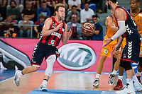 Baskonia's player Trevor Cooney and Tornike Shengelia during the match of the semifinals of Supercopa of La Liga Endesa Madrid. September 23, Spain. 2016. (ALTERPHOTOS/BorjaB.Hojas)