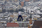 Ki-Hyun Kim competes during the qualification jump of the FIS Ski Jumping World Cup as part of the 4 Hills Tournament in Innsbruck, on January 3, 2015.