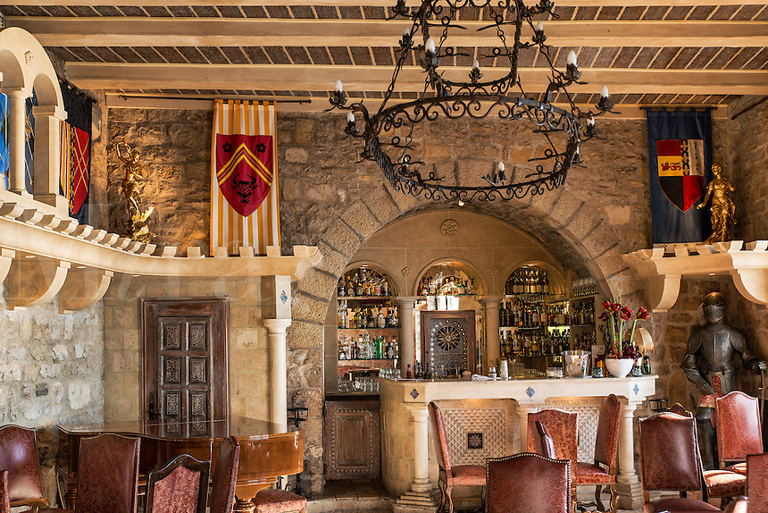 Luxury boutique hotel bar, Chateau Eza, Eza, Cote d'Azur, France