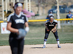 Western Nevada's Gabrielle Canibeyaz anticipates the pitch against Colorado North Western at Edmonds Sports Complex Carson City, Nev., on Friday, March 18, 2016.<br /> Photo by Jeff Mulvihill, Jr.