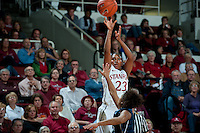 STANFORD, CA - NOVEMBER 17: Jasmine Camp scores from the three point line as Stanford hosted Old Dominion University at Maples Pavilion. The Cardinal defeated Big Blue 97-48.