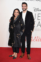 """director, Mira Nair and son, Zohran Mamdani<br /> at the London Film Festival 2016 premiere of """"Queen of Katwe"""" at the Odeon Leicester Square, London.<br /> <br /> <br /> ©Ash Knotek  D3168  09/10/2016"""