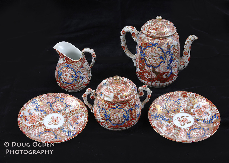 Asian china tea set.  Images used in Estate valuation and auction program.
