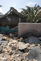 Quintana Roo, Mexico, Wednesday; August 22; 2007. Damage from Hurricane Dean in the tourist area of Tulum.