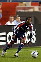 New England Revolution midfielder Sainey Nyassi (31). The New England Revolution defeated the Houston Dynamo 2-2 (6-5) in penalty kicks in the SuperLiga finals at Gillette Stadium in Foxborough, MA, on August 5, 2008.