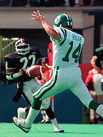 Paul Hickie Saskatchewan Roughriders 1984. Photo F. Scott Grant