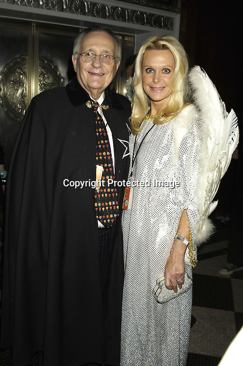 Tricia Walsh and husband ..at The Hulaween Ball Celebrating  Bette Midler's 10th Anniversary of The New York Restoration Project and Bette Midler's 60th Birthday on October 31, 2005 at The Waldorf Astoria Hotel. ..Photo by Robin Platzer, Twin Images