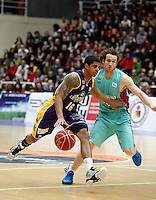 Edgar Sosa and Huertas during Blancos de Rueda Valladolid V Barcelona ACB match. January 20, 2013..(ALTERPHOTOS/Victor Blanco) /NortePhoto