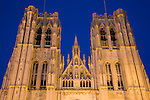 Cathedral; Brussels; Belgium; Europe