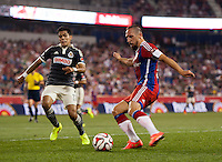 Harrison, NJ - July 31, 2014: FC Bayern defeated Chivas Guadalajara 1-0 during an international friendly at Red Bull Arena.