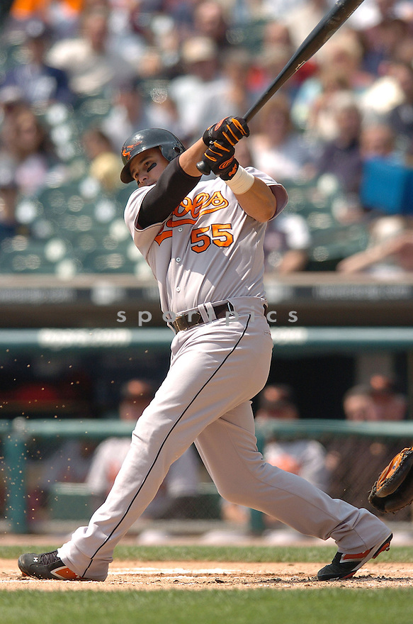 RAMON HERNANDEZ, of the Baltimore Orioles , in action during the Orioles game against the Detroit Tigers on May 2, 2007 in Detroit, Tigers...Tigers win 5-4...Chris Bernacchi/ SportPics..