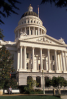 AJ3757, State Capitol, Sacramento, State House, California, State Capitol Building in the capital city of Sacramento in the state of California.
