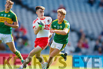 Fiáchra Clifford Kerry in action against Sean McKeever Derry in the All-Ireland Minor Footballl Final in Croke Park on Sunday.
