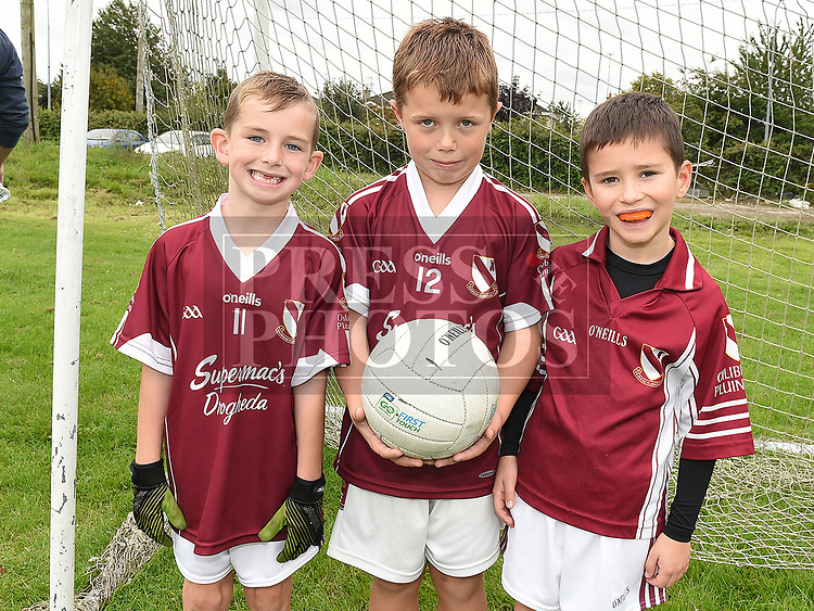 Bobby Malone, Tadhg Henry and Sean Dolan at the Oliver Plunketts Family Fun Day. Photo:Colin Bell/pressphotos.ie