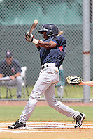 Candido Pimentel (1) Outfielder for the GCL Twins during a game against the GCL Rays on July 16th, 2010 at Charlotte Sports Park in Port Charlotte Florida. The GCL Twins are the the Gulf Coast Rookie League affiliate of the Minnesota Twins. Photo by: Mark LoMoglio/Four Seam Images