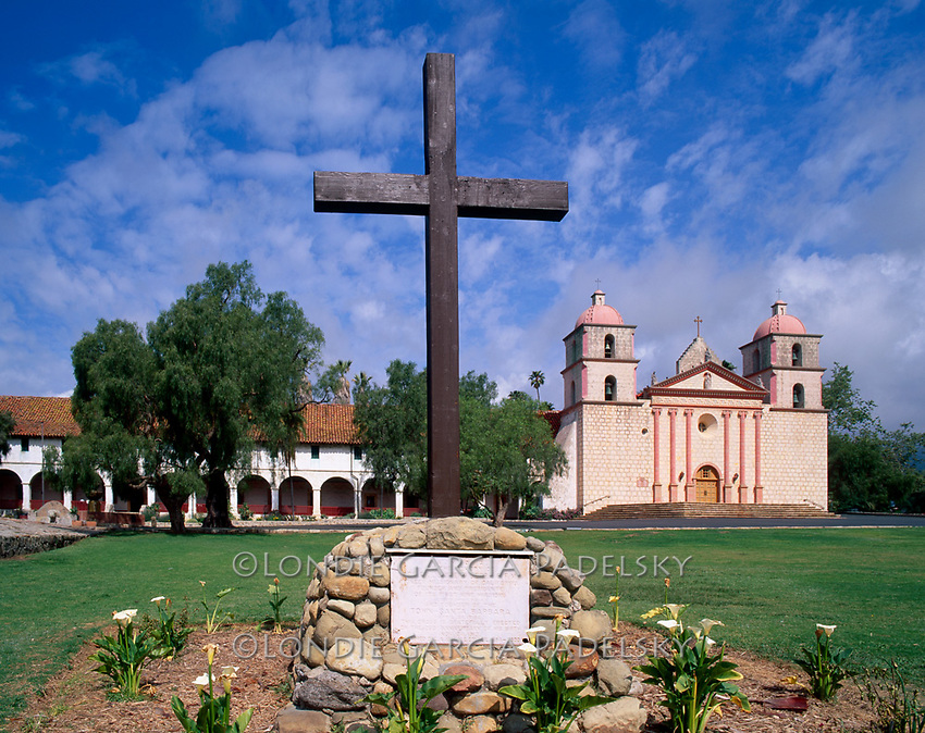 Santa Barbara Mission, the tenth mission founded in 1786, Santa Barbara, California