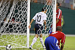 11 October 2008: Landon Donovan (USA) walks away after scoring a goal early in the second half. The United States Men's National Team defeated Cuba Men's National Team 6-1 at RFK Stadium in Washington, DC in a CONCACAF semifinal round FIFA 2010 South Africa World Cup Qualifier.