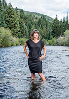 Routt County Conservation District Manager and Upper Yampa Watershed Coordinator Jackie Brown near the Yampa River, along Highway 131 near Steamboat Springs, Colorado, Wednesday, August 12, 2015.<br /> <br /> Photo by Matt Nager