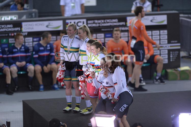 Picture by Richard Blaxall/SWpix.com - 12/04/2017 - Cycling - 2017 UCI Track Cycling World Championships - Hong Kong Velodrome, Tseung Kwan O, Hong Kong - the,brief,marketing,tissot,santini,tacx,shimano,