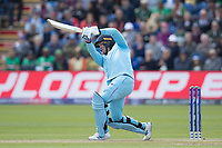 Jason Roy (England) drives high over long off during England vs Bangladesh, ICC World Cup Cricket at Sophia Gardens Cardiff on 8th June 2019