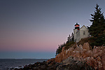 Bass Harbor Head Lighthouse capture a few minutes before sunrise.