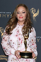LOS ANGELES - SEP 9:  Leah Remini at the 2017 Creative Emmy Awards Press Room at the Microsoft Theater on September 9, 2017 in Los Angeles, CA