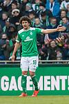13.04.2019, Weserstadion, Bremen, GER, 1.FBL, Werder Bremen vs SC Freiburg<br /> <br /> DFL REGULATIONS PROHIBIT ANY USE OF PHOTOGRAPHS AS IMAGE SEQUENCES AND/OR QUASI-VIDEO.<br /> <br /> im Bild / picture shows<br /> Milos Veljkovic (Werder Bremen #13), <br /> <br /> Foto &copy; nordphoto / Ewert