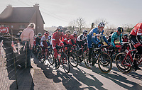 Philippe Gilbert (BEL/Quick Step floors) in the pack up the Leberg<br /> <br /> Omloop Het Nieuwsblad 2018<br /> Gent &rsaquo; Meerbeke: 196km (BELGIUM)